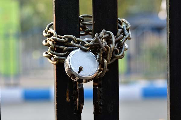 Photo of locked gate